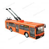 Большая модель троллейбуса на батарейках, фото 1