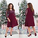Женское  нарядное платье размер 50-56 СВ2702зеленый, фото 3