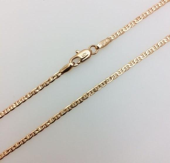 Цепочка Морская цепь, ширина 2 мм, длина 50 см, ювелирная бижутерия