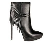 Женские натуральные кожаные демисезонные повседневные Fashion ботинки на высокой шпильке Турция