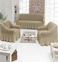 Чехлы на Диван и 2 Кресла с Оборкой Модель 212