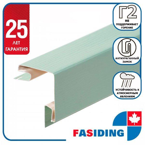 """Планка FaSiding """"зовнішній кут"""" """"Папороть"""" Т-12. 3.05м"""