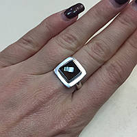 Кольцо с раух-топазом дымчатый кварц в серебре 17.7 размер. Кольцо с камнем раух-топаз Индия