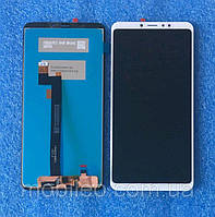 Дисплей (LCD) Xiaomi Mi Max 3 с тачскрином, белый оригинал (PRC)