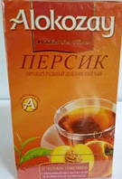 Чёрный чай  ALOKOZAY с ароматом и вкусом персика 25 пакетиков