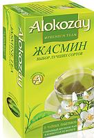Чай зелёный ALOKOZAY  с ароматом и  вкусом жасмина  25 пакетиков
