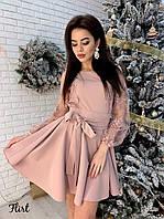 Модное Платье «Вивьен» с кружевом
