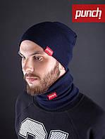 Хомут шарф темно-синий Punch - Snug, Dark/Blue
