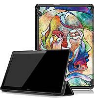 Чехол HUAWEI MediaPad T5 10.1 Print ultraslim faces