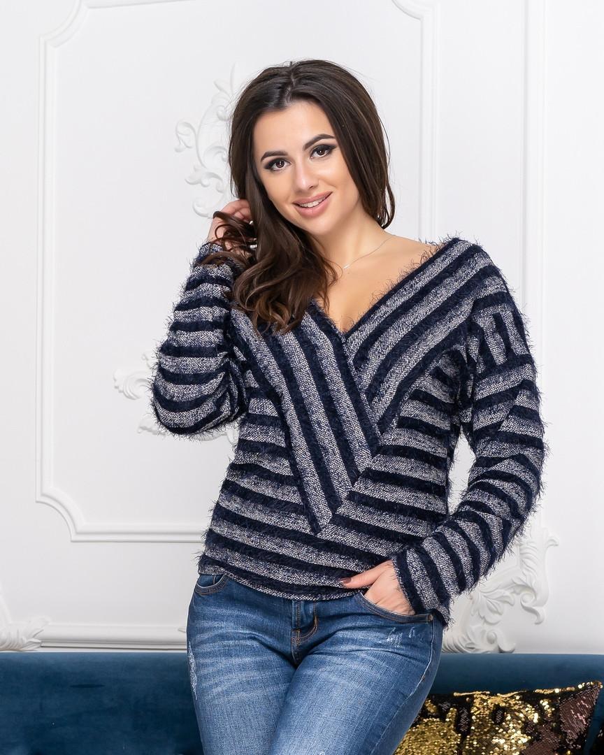 Женский стильный свитер  ДГд41354 (норма)
