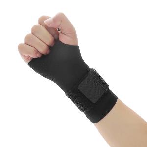 Рукавичка еластичний бинт Sibote для захисту зап'ястя при тренуваннях чорний