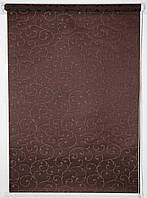 Готовые рулонные шторы 450*1500 Ткань Акант 2261 Венге