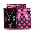Подарочная Коробочка 8х5х2.7см, для Украшений, с Бантом, губка внутри, Розовый, (УТ100011202)