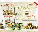 Рахат лукум  с орехом фундука  и фисташки  TATLAN , 330 гр, турецкие сладости, фото 5