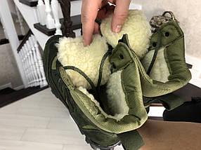 Чоловічі черевики-берці натуральна шкіра нубук зелені, фото 2