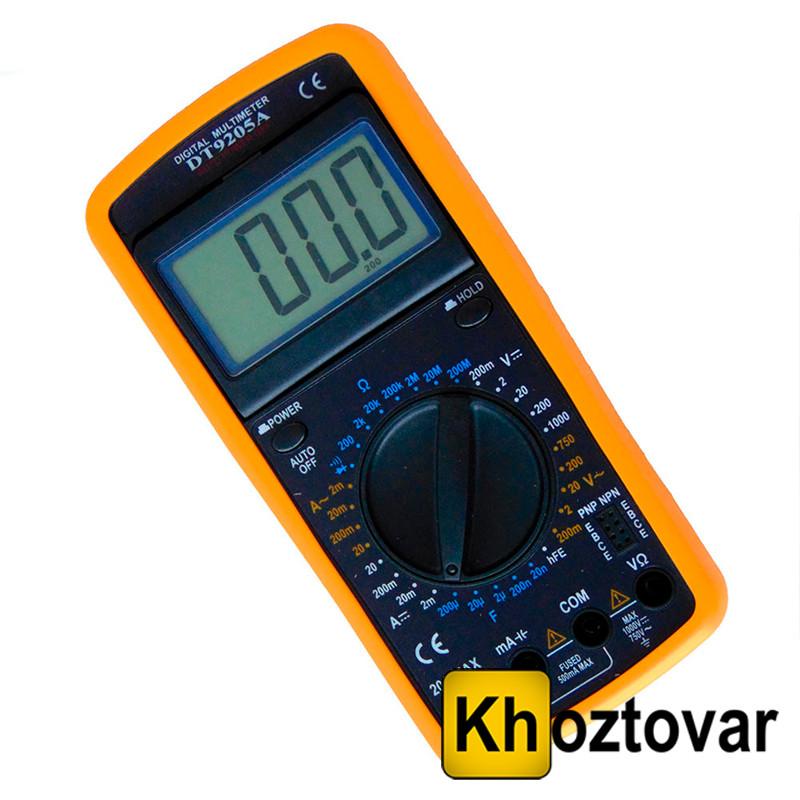 Цифровой мультиметр DT 9205A   Тестер