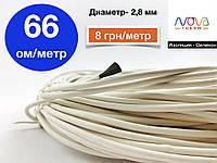 Греющий (нагревательный) карбоновый кабель 66 ом/метр для водосточных систем | Гарантия 10 лет | Nova Therm