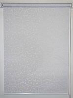 Готовые рулонные шторы 350*1500 Ткань Акант 2018 Белый