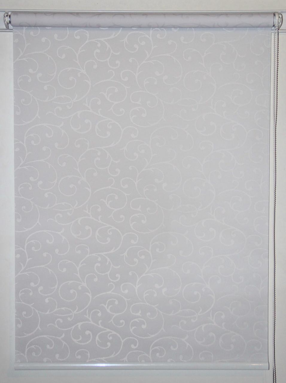 Рулонная штора 375*1500 Акант 2018 Белый
