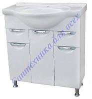 Тумба для ванной комнаты с выдвижными ящиками Грация Т16 с умывальником Изео-75