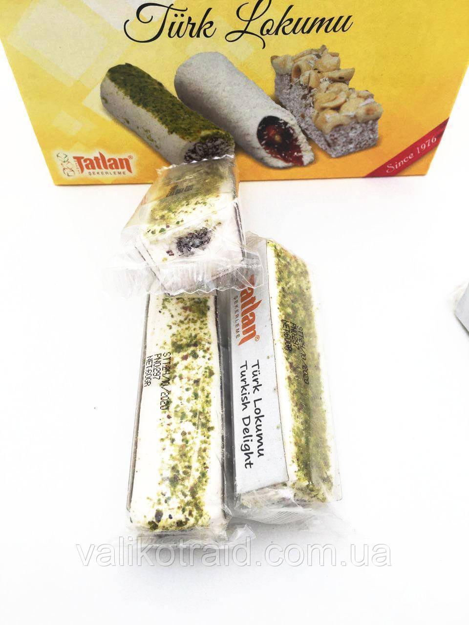 Белый лукум TATLAN (60 гр) с фруктовым мармеладом ,