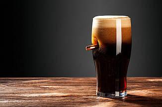 Келих для пива зі справжньою «застряглою» кулею .30-06, фото 3