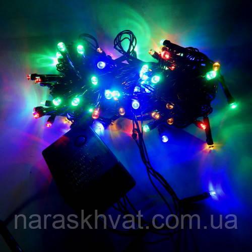 Гирлянда Нить STRING LED 100 мульти, чёрный провод