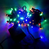 Гирлянда Нить STRING LED 100 мульти, чёрный провод, фото 1