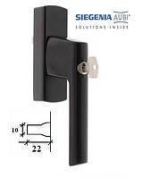 Ручка для алюминиевого окна SI-Line с ключом, коричневая., фото 1