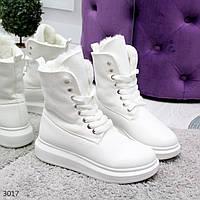 Стильные белые женские ботинки трансформеры