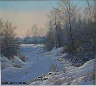 Красивая картина зимнего пейзажа купить