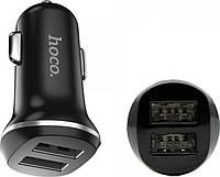 Автомобильное зарядное устройство Hoco Z1 (2USB 2.1A) Black