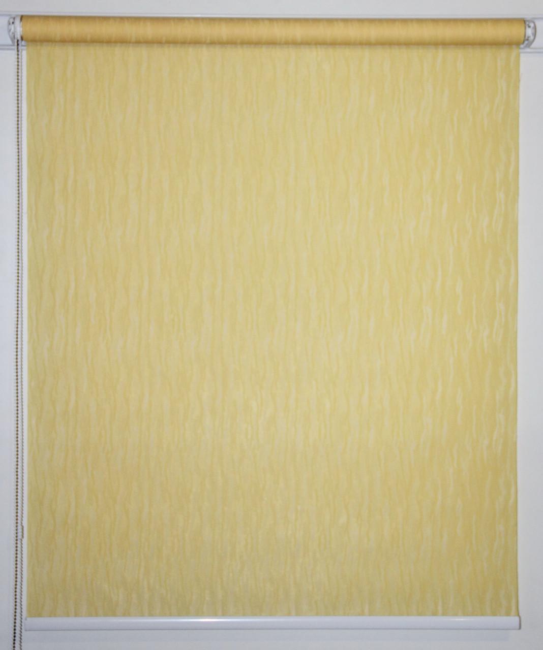 Рулонная штора Лазурь Жёлтый