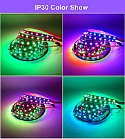 Светодиодная  Адресная Smart LED лента WS2812B 5V 30Led/m  5m RGB  IP30, фото 2