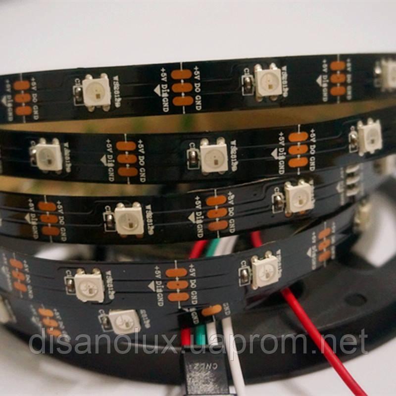 Светодиодная  Адресная Smart LED лента WS2812B 5V 30Led/m  5m RGB  IP30