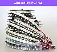 Светодиодная  Адресная Smart LED лента WS2812B 5V 30Led/m  5m RGB  IP30, фото 4