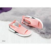 Модные персиковые текные женские босоножки 36/40 р-р Код: 3699480
