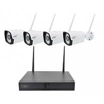 Комплект видеонаблюдения беспроводной UKC DVR KIT CAD Full HD  8004/6673 Wi-Fi 4ch набор на 4 камеры