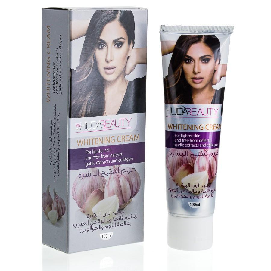 HUDABEAUTY Відбілюючий крем для обличчя та шиї ( з екстрактом часнику і колагеном) 100 ml