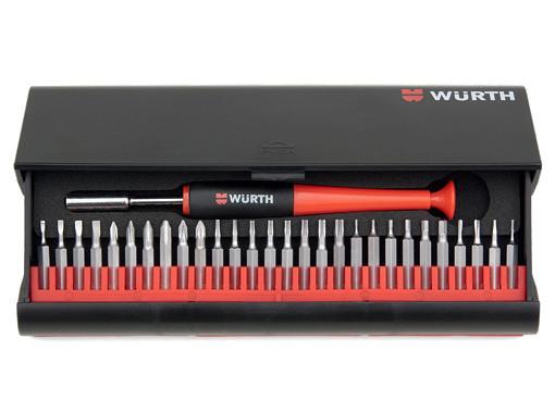 Набор бит с отверткой для точных работ 29 предметов Wurth