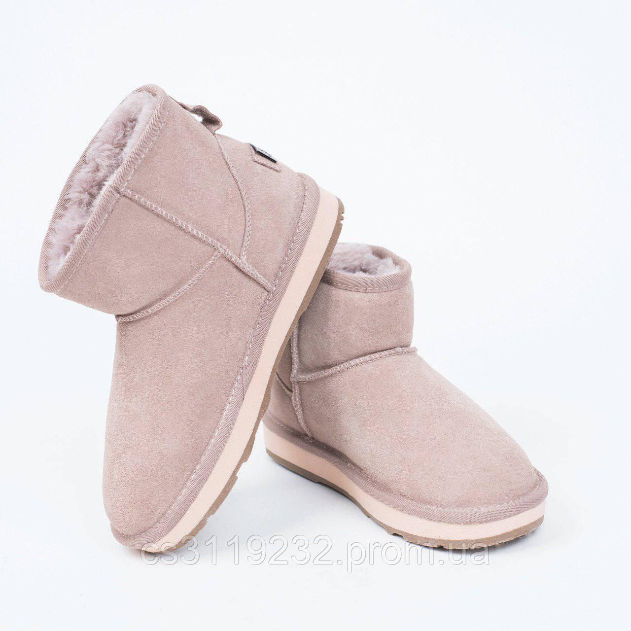 Жіночі чоботи зимові UGG Classic 2 Mini (рожеві)