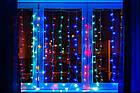"""[ОПТ] Вулична новорічна світлодіодна гірлянда """"Завісу"""", 180LED, 3м*3м, Різнокольорова, фото 4"""