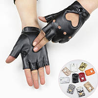 Кожаные перчатки с сердечками