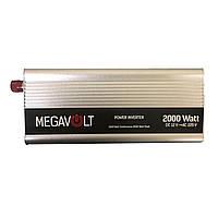 Перетворювач напруги 12v-220v 2000W MEGAVOLT, фото 1