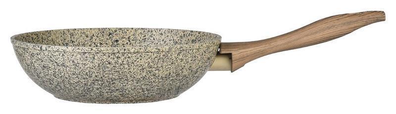 Сковорода-вок Fissman Crema nova Ø24см с керамическим покрытием EcoStone