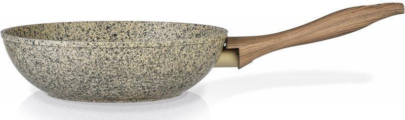 Сковорода-вок Fissman Crema nova Ø28см с керамическим покрытием EcoStone