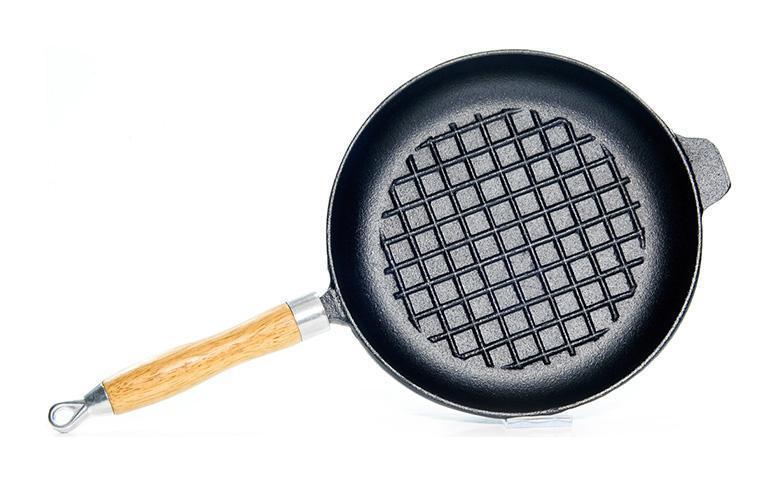 Сковорода-гриль Fissman Naestved Ø23см чугунная, фото 1