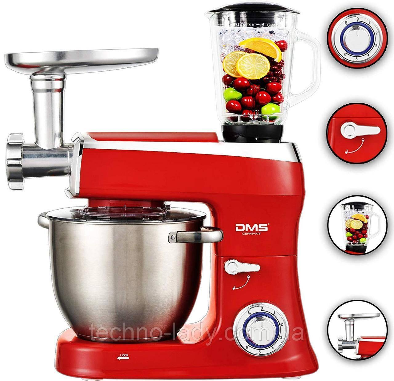 Кухонный комбайн, тестомес DMS 3в1 2100w RED