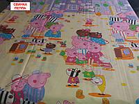 Двуспальная бязевая простынь - Свинка Пеппа