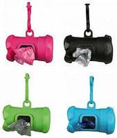 Trixie контейнер+пакеты M 1 рулон/15 шт. для уборки фекалий собак